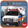 911救助救急車バン - 救急医療の駐車のための駆動ラッシュ
