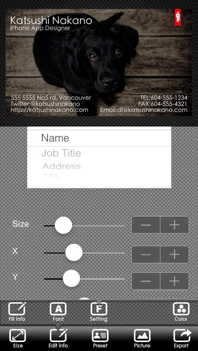 Screenshot for BusinessCardDesigner - เครื่องนามบัตรผู้สร้าง, แก้ไข, แม่แบบการออกแบบ in Thailand App Store