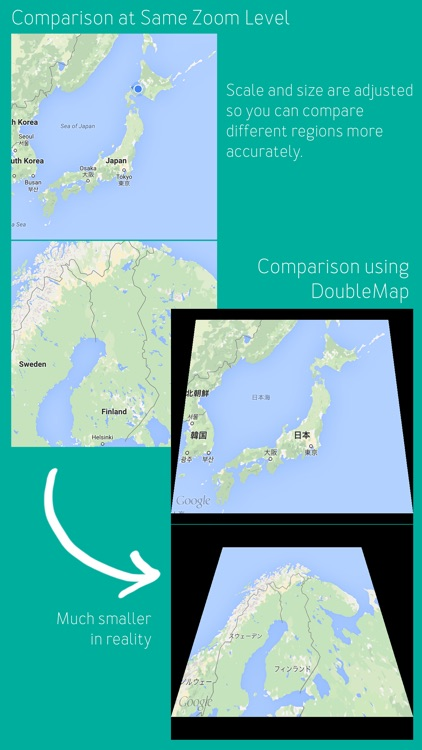 DoubleMap – Easily understand how far things are in unfamiliar places