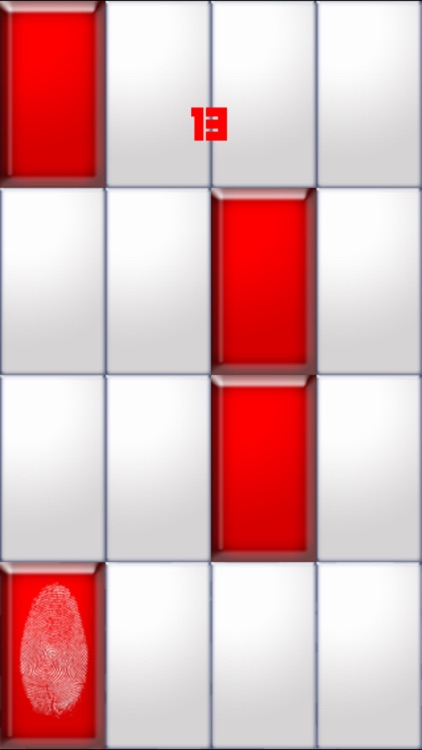 Don't touch white tiles - Red tile Edition piano speed and accuracy style screenshot-3