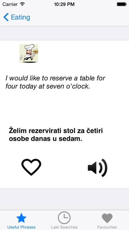 PortosDicty useful English Croatian phrases with native speaker audio / Koristne englesko hrvatske fraze screenshot-3