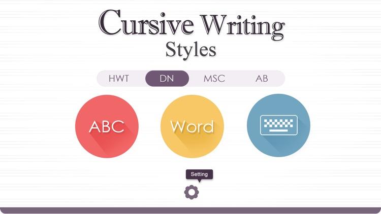 Cursive Writing Styles screenshot-0
