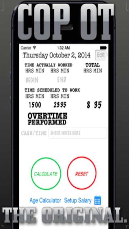 Cop's Overtime Calculator screenshot-0