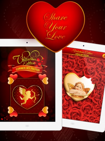 Corner My Photos - Valentines Edition - Add beautiful romantic and heartfelt photo corners to your pictures-ipad-0