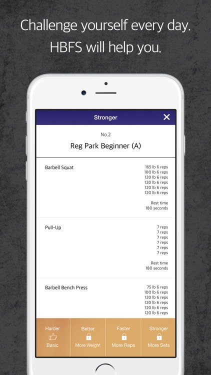 HBFS : Harder Better Faster Stronger is a fitness tracker for your body strength screenshot-4