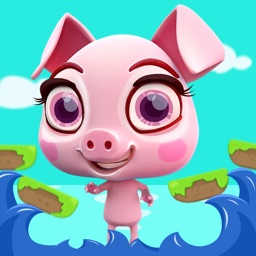 Crazy Piglet Jumping - Clumsy Piggy Running through the Forest