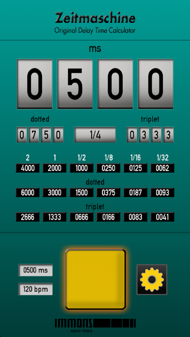 Zeitmaschine delay time calculator