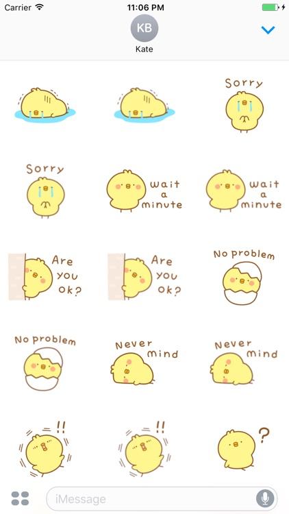 Mimi Little Baby Chicken English Sticker screenshot-4