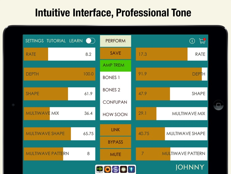 Johnny - Multiwave Tremolo Effects Processor screenshot-3