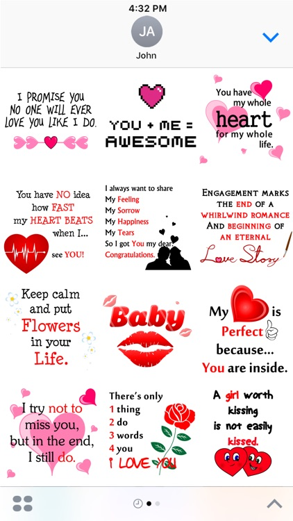 Love Quotes Stickers pack