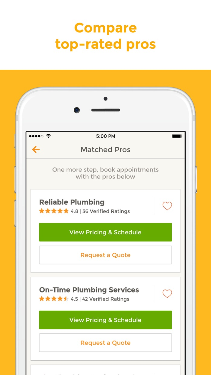 HomeAdvisor Screenshot