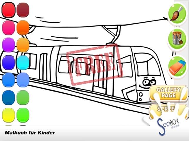 Zug Spiele - Zug Malbuch im App Store