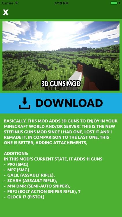 GUNS ADDON & MODS for Minecraft Edition screenshot-3