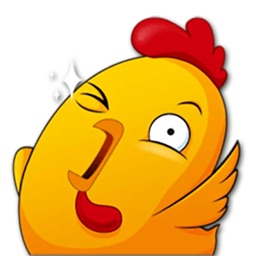 Funny Chicken Stickers