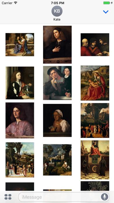 Giorgione Artworks Stickers screenshot one