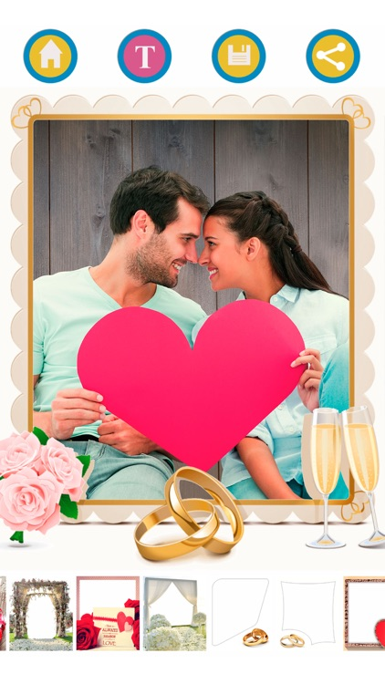 New wedding photo frames – Album & text editor screenshot-4