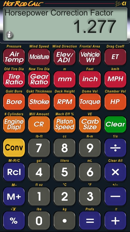 Hot Rod Calc Bracket Racer Performance Calculator