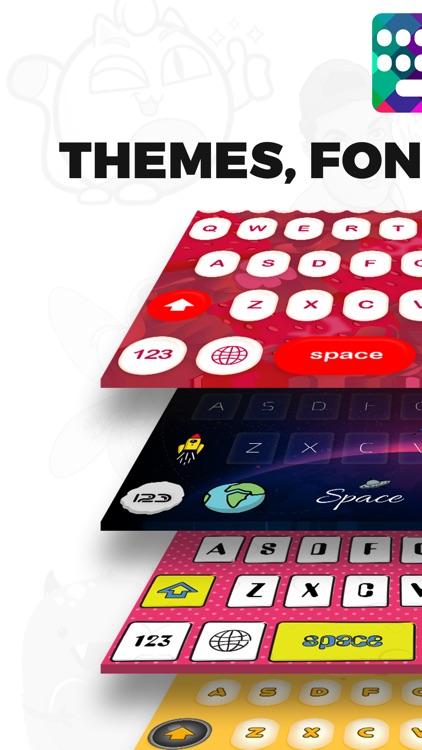 Keyboards Themes- Rainbow Fonts, Fancy Key Board by Akim Laouar