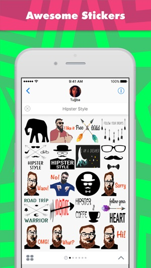 Hipster Style stickers by Tuğba Screenshot