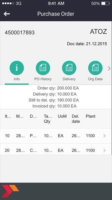 Purchase Order Overview screenshot three