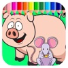 Kids Coloring Games Page Pep Pig And Mouse Ranking