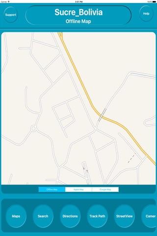 Sucre Bolivia Offline City Maps Navigation - náhled