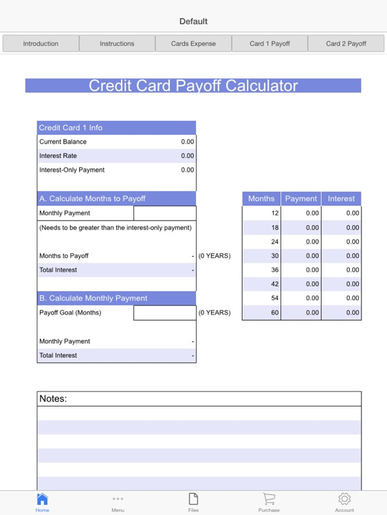 Credit Cards Payoff Calculator screenshot-0
