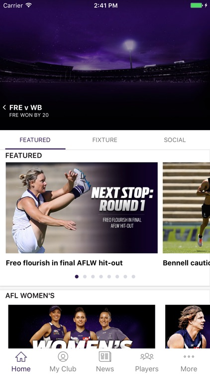 Fremantle Dockers Official App