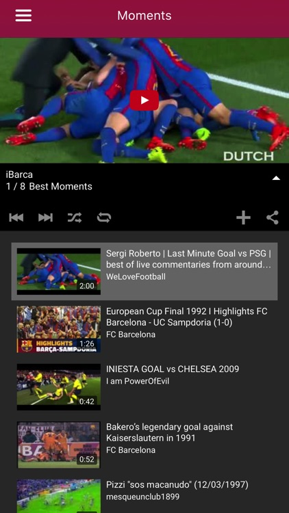 iBarca - FC Barcelona Chants and Songs for fans screenshot-2