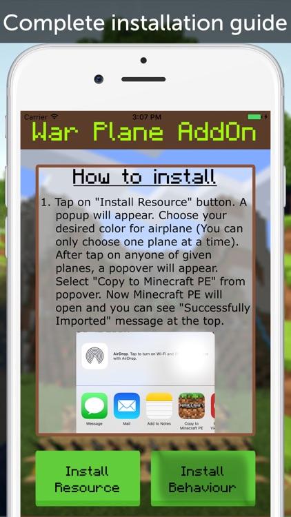 War Plane AddOn for Minecraft PE
