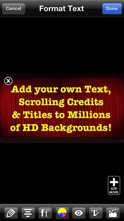 Extras for iMovie