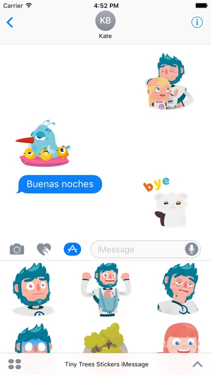 Tiny Trees Stickers for iMessage screenshot-3