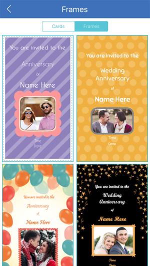 Anniversary invitation card maker pro on the app store stopboris Images