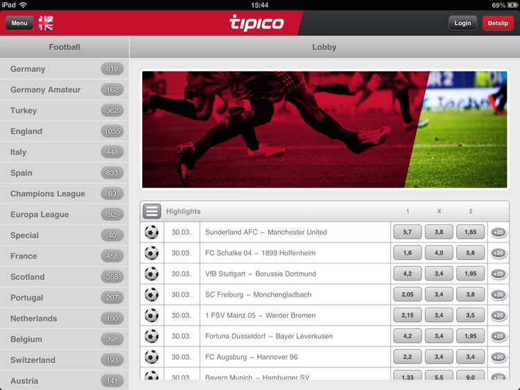 Tipico for iPad
