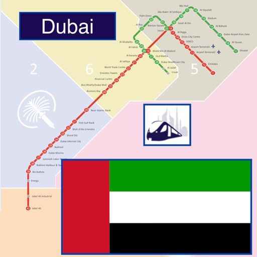 Dubai Metro - Map and route planner