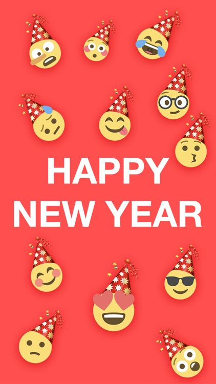 New Year Emoji - Emojis Sticker For iMessage
