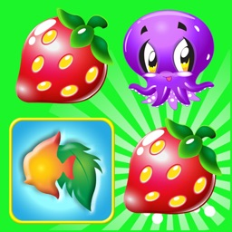 Kids match - fruit & fish
