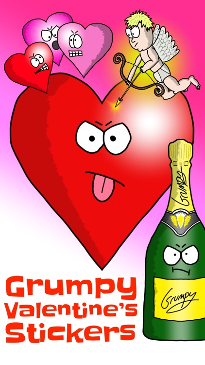 Grumpy Valentine's Stickers
