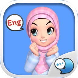 Amarena 3D Hijabgirl ENG Stickers by ChatStick
