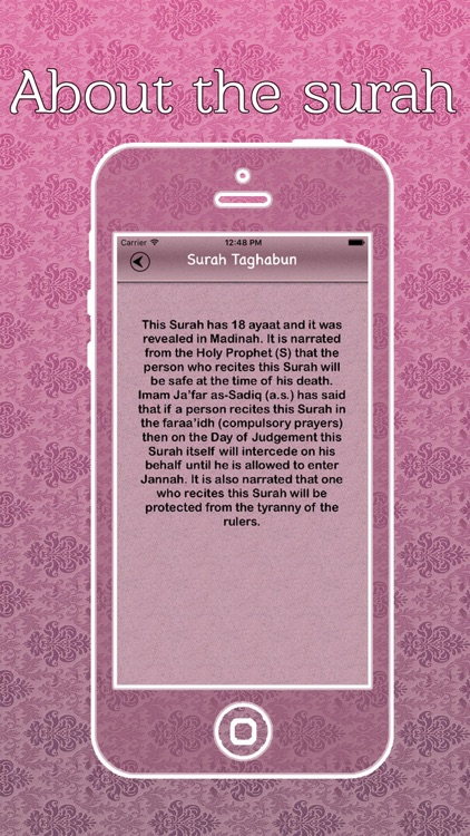 Surah Taghabun Audio Urdu - English Translation screenshot-3