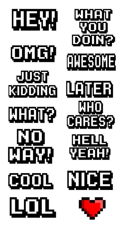 Pixel Words Stickers