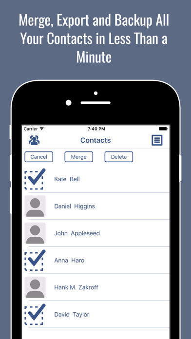 vCard Contacts Backup - Export & Copy Address Book by