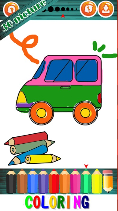 Learning Vehicles Coloring Markers Easy For Kids screenshot two