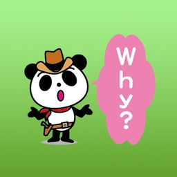 Percy the cowboy panda stickers