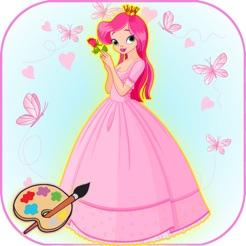 Prenses Boyama Kolay Boyama Sayfasi