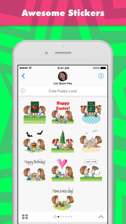 Cute Puppy Love stickers by wenpei