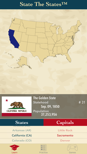 State The States and Capitals on the App Store