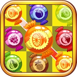 Candy Fruits Garden Mania - Connect & Splash