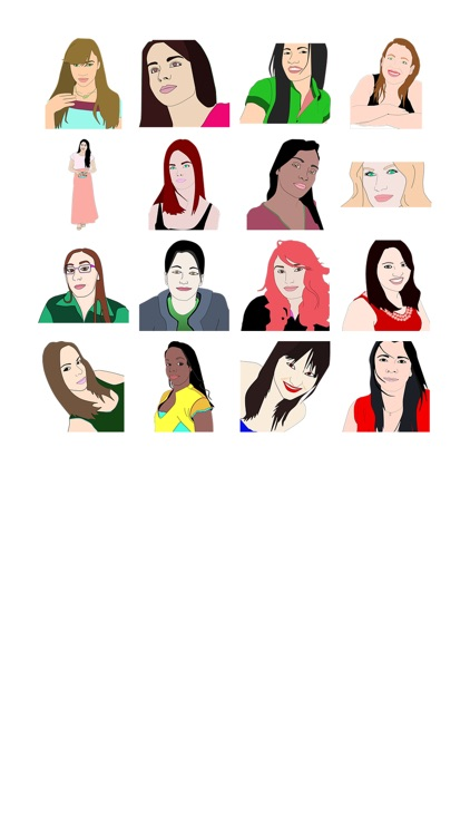 Lady Drawing Sticker Pack