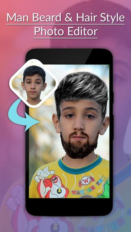 Man Beard & Hairstyle Photo Editor screenshot-4